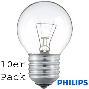 Philips TROPFEN/ball 40W klar E27 SINGLE (10er Pack)