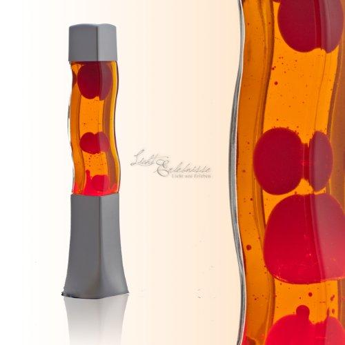 Quadratische 42cm hohe Lavalampe – (Orange/Rot)