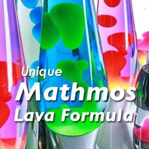 Mathmos Matt Schwarz Heritage Astro Lavalampe - (Blau/Blau) Lava Formula