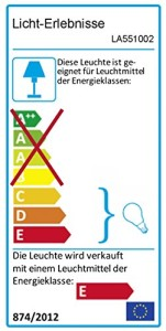 Dekorative Lavalame 41cm (Klar/Orange) - Energieklasse