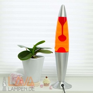 "Dekorative Lavalampe ""Jenny"" - (Rot/Orange)"