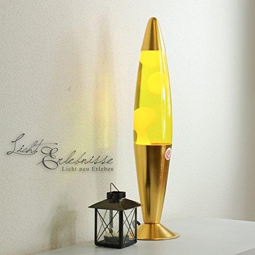 "Dekorative Lavalampe ""Natalie"" – 41cm – (Gelb/Gelb)"